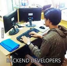 Backend #Developers - #MEME   Programmer humor, Programming humor,  Backend developer