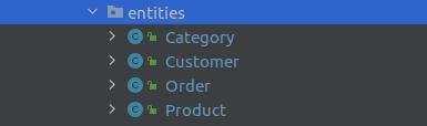 Các lớp Entities trong ShopX