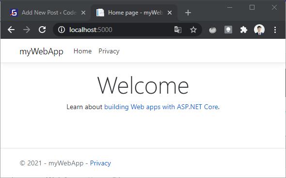 Ứng dụng web ASP.NET đầu tiên